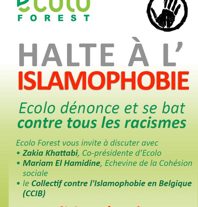 Rencontre Ecolo au Pluriel le 9 mai : halte à l'islamophobie !