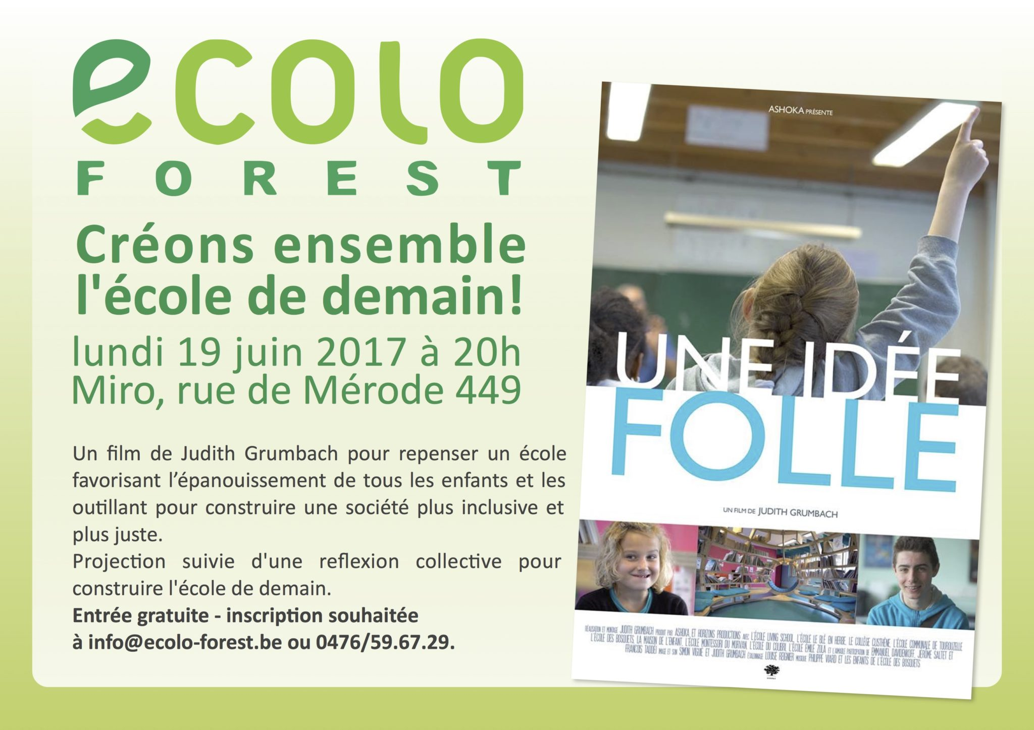 Co-construire un programme pour l'école avec les Forestois facebook