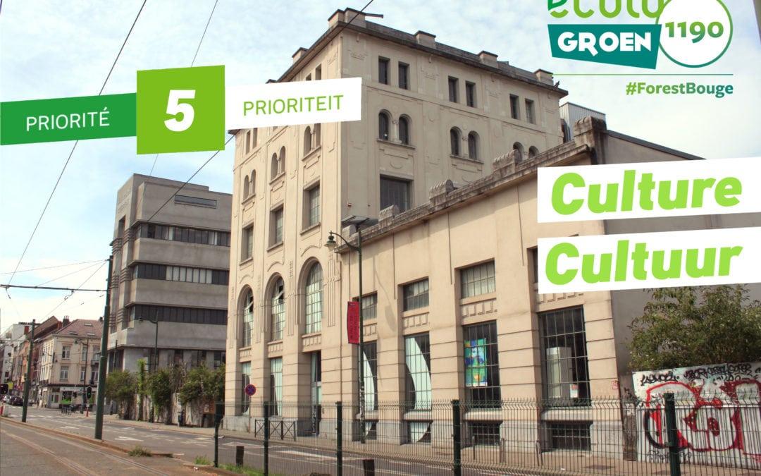 Priorité #5 : Culture/Cultuur