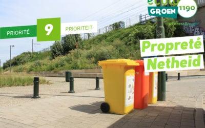 Priorité #9 – Propreté/Netheid