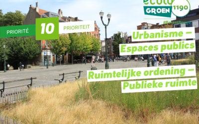 Priorité #10 -Urbanisme/Espaces publics