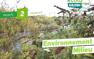 Priorité# 2: Environnement/Énergie